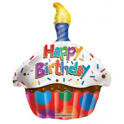 Lufi fólia 18 Muffin Happy Birthday