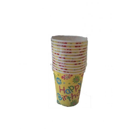 Party pohár 12db vegyes mintás