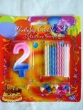 Party kellékek- Gyertya tortára szám+szál