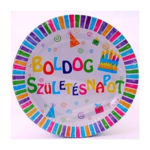 Party tányér d18cm/6db B. Születésnap