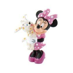 Mese figurák - Mese szereplők - Minnie kutyussal műanyag játékfigura Bullyland