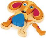 Fa játékok babáknak - Kutya kirakó OOPS