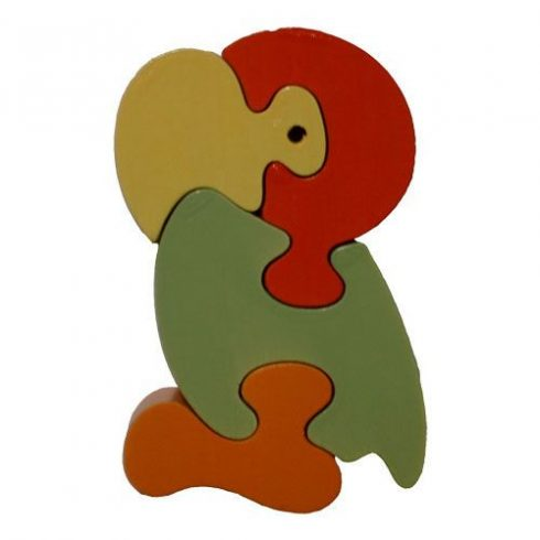 Fa puzzle - Puzzoo papagáj