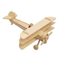 3 D-s puzzle - 3 Dimenzióban megjelenő összerakós játékok - 3D puzzle tri-plane (natúr)