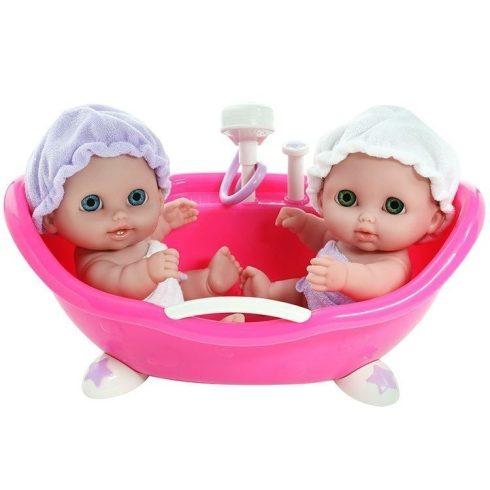 Élethű játékbabák - Berenguer Lil' játékbabák fürdetőkádban