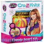 Kreatív hobby készletek - Kötőkészlet Trendi csajszi pöndörödő sál