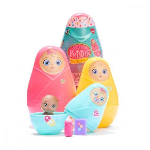 Játék babák lányoknak - Lil 'Cutesies Matrjoska babák mini babával színváltós pelussal JC Toys