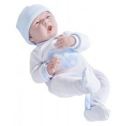 Élethű játékbabák - Élethű Berenguer babák - Fiú játékbaba csillagos pizsamában, 38 cm