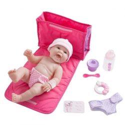 Élethű játékbabák - Élethű Berenguer babák - Újszülött lány, táskával, kiegészítőkkel, 33 cm