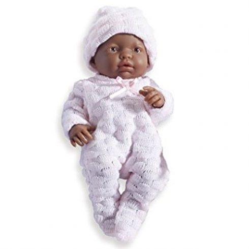Élethű Berenguer babák - néger, rózsaszín ruhában, lány