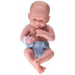 Élethű játékbabák - Élethű Berenguer babák - Karakter játékbaba fiú, kék pelenkával, 36 cm