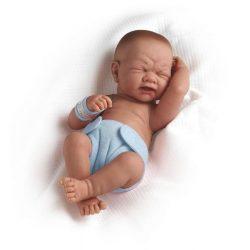 Élethű játékbabák - Élethű Berenguer babák - Újszülött élethű fiú játékbaba kék pelenkával 36 cm