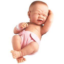 Élethű játékbabák - Élethű Berenguer babák - Újszülött, síró lány baba, rózsaszín pelenkával