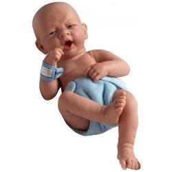 Berenguer - újszülött fiú karakterbaba - kék pelenkával