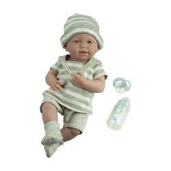 Élethű játékbabák - Élethű Berenguer babák - Újszülött fiú, csíkos ruhában, kiegészítőkkel, 38 cm