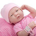 Élethű babák - Berenguer - Újszülött lány karakterbaba pöttyös pink ruhában