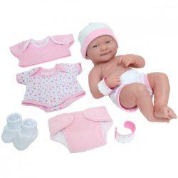 Élethű Berenguer játékbabák - Újszülött lány rózsaszín ruhában, sapkában, kiegészítőkkel, 36 cm