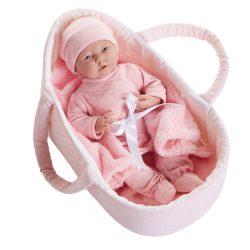 Prémium játékbabák - Berenguer újszülött kislány mózeskosárban