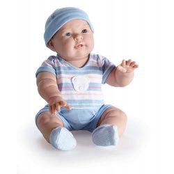 Élethű játékbabák - Berenguer Lucas Karakterbaba kék csíkos ruhában 46cm