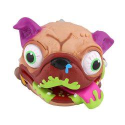 Interaktív játékok gyerekeknek - Rondi büfiző pukizó mopsz kutya lila füllel