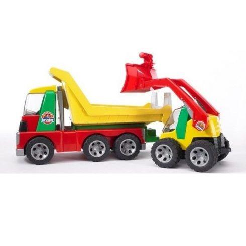 Műanyag járművek - Bruder - Billencs és rakodógép