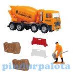 Játék autók - Autós játékok - Útépítő kisautós készlet betonkeverő Dickie