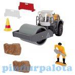 Játék autók - Autós játékok - Útépítő kisautós készlet úthenger Dickie