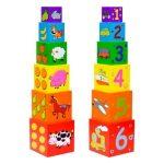 Fajátékok gyerekeknek - Bábel-torony (háziállatos)
