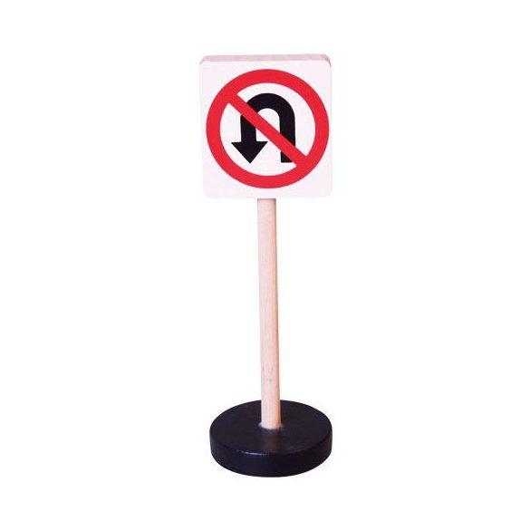 Kresz-tábla - Megfordulni tilos - Játékos közlekedés