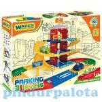 Járművek - Garázsok - Kid Cars 3D 3 emeletes parkológarázs 4,6 méteres pályahossz