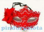 Party kellékek - Jelmezek - Velencei álarc feles virággal