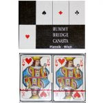 Kártya játékok - Memória kártyák - Klasszikus kártyapaklik - Bécsi standard Römi kártya 2x55 lap