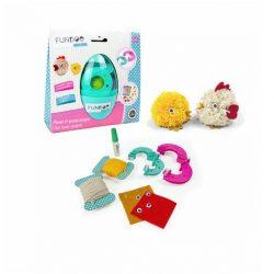 Figurakészítő játékok  - Kreatív tojás - Pompon állatka készítő tyukica és kiscsibe