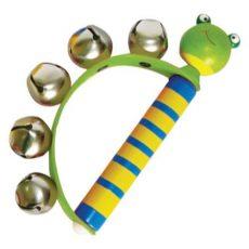 Hangszerek gyerekeknek - Száncsengő állatfigurás béka