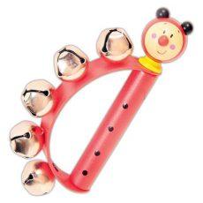 Hangszerek gyerekeknek - Száncsengő állatfigurás - katicás