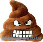 Ajándékok divatos termékek gyerekeknek  - Kaki párna vicsorgó barna színű Emoji