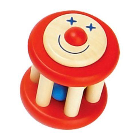 Fa játékok - Csörgő - Mókuskerék - Piros
