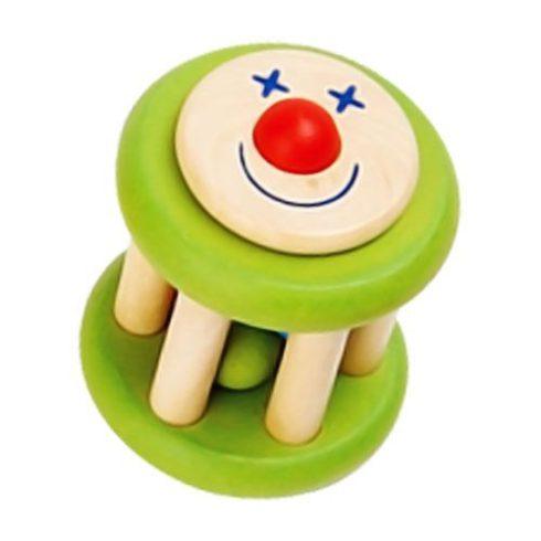 Fa játékok - Csörgő - Mókuskerék - Zöld