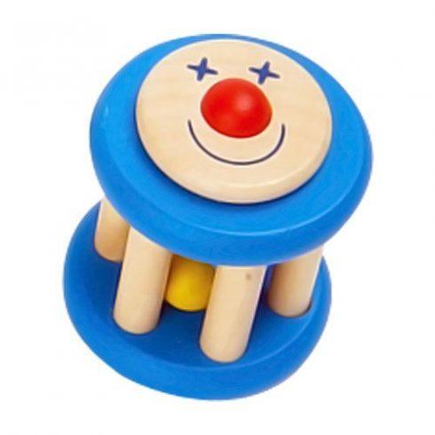 Fa játékok - Csörgők - Mókuskerék - Kék