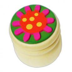 Fogkefetartók - Tejfogtartó virágos