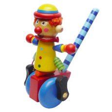 Tologatós játékok - Bohóc - kék kerékkel