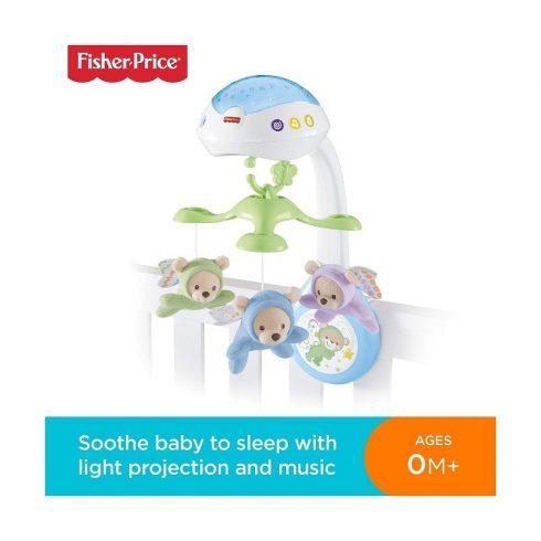 Fisher Price játékok - Fisher-Price 3:1 Altatódalos kiságyforgó Mattel