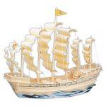 3 D-s puzzle - Vitorlás hajó a Ming dinasztiából