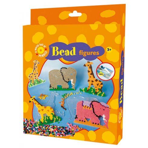 Készségfejlesztő - Fűzős játékok - Zsiráf és elefánt gyöngyképkészítő