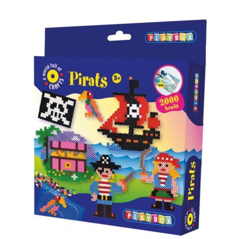 Készségfejlesztő - Fűzős játékok - Kalózos gyöngyképkészítő
