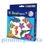 Fűzős játékok gyerekeknek - Gyöngyök - Playbox Gyöngykép figurák 2000 db tengeri állatok