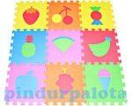 Baby kirakók - Puzzle - Szivacsszőnyeg habtapi zölcség gyümölcs mintával