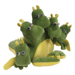 Játékbabák - Bábok - Sárkány kesztyűbáb felnőtt kézre