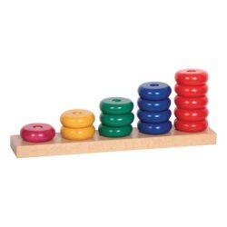 Logikus gondolkodás fejlesztő játékok - Logikai ferde-torony (korongok)