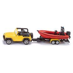 Kis autók - Járművek gyerekeknek - Játék autók - SIKU jeep hajóval